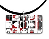 Modern design, Circles and Squares, red black and grey, abstract art , retro