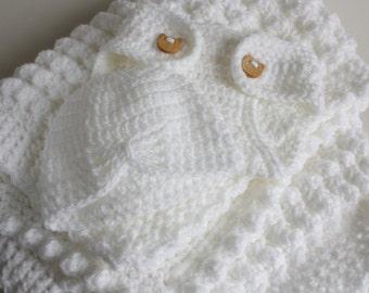 White handmade extra thickness crochet baby layette /  gift set.   Ideal Christening / shower /new baby boy/girl gift.
