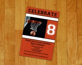 Basketball Birthday Invitation - printable digital file