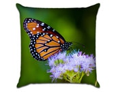 """Monarch Butterfly 1 - Original Photo Sofa Throw Pillow Envelope Cover for 18"""" inserts"""