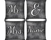 Mr. & Mrs. Pillow Set in Blackboard