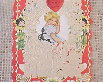 Lovely Vintage Lacy Valentine Card by Whitney Mode
