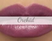 "Vegan Lipstick Sample - ""Orchid"" (medium pinky purple) natural lip tint, balm, lip colour"