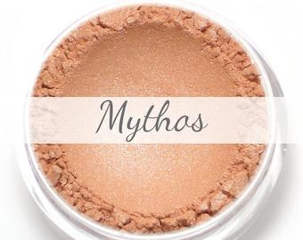 "Eyeshadow Sample - ""Mythos"" - shimmery peach (Vegan) Mineral Makeup Eye Color Pigment"