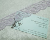 1 yard of 1 1/4 inch Lavender Purple Chantilly Lace trim for bridal, baby, wedding, spring, valentines, lingerie by MarlenesAttic - Item BB9