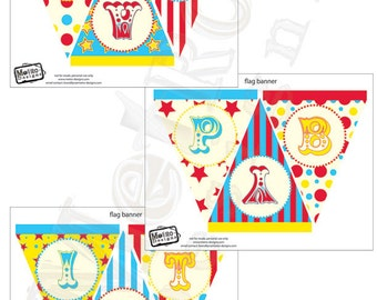 Carnival Birthday Banner, Circus Birthday, Instant Download