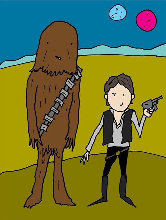 STAR WARS POSTER - Han Solo and Chewbacca