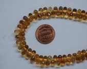 Citrine Drops Faceted