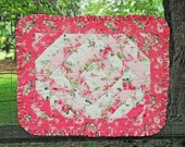 Breafoot Roses - Baby Quilt - Baby Blanket - Pink Roses Quilt  - Bedding - Baby Crib - Baby Mat - ONLY ONE Immediate Shipping