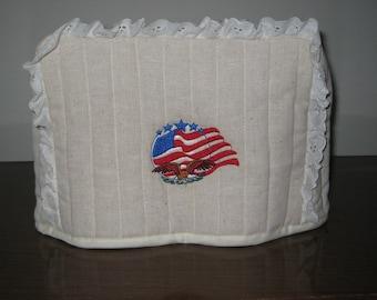 2 Slice Toaster Cover Flag/Eagle Design
