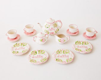 Child's Personalized Hand Painted Tea Set Princess Birthday Gift