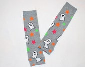 Gray Ghost Halloween Leg Warmers