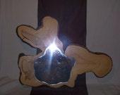 rustic log mirror/ cypress mirror/ wedding mirror/ rustic decor/wedding decor/rustic gifts/ cabin decor