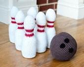 Crochet Pattern - Kids Toy Bowling Set - Immediate PDF Download