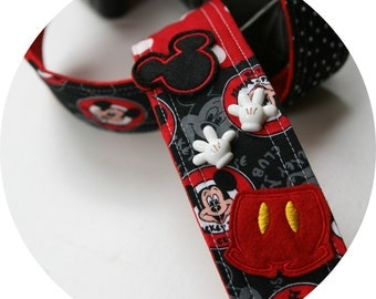 Mystery Patchwork Pieces of Mickey DSLR SLR Camera Strap