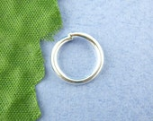 100pcs 12mm Silver Plated Jump Ring - 16 gauge, Jewelry Finding, Jewelry Making Supplies, DIY, Necklace Finding, Ships from USA  - JR42