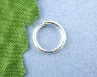500pcs 12mm Silver Plated Jump Ring - 16 Gauge, Wholesale Jewelry Finding, Wholesale Jewelry Supplies, DIY, Bulk, Ships from USA - JR42-2