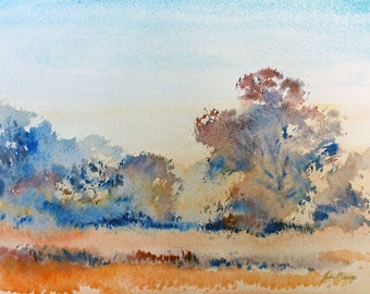 Late afternoon, print from an original watercolour by john menage A4 size print