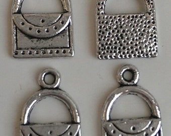 CLEARANCE 12 Tibetan Silver Purse Bag Shopping Charm Girls Ladies Night Out Briefcase