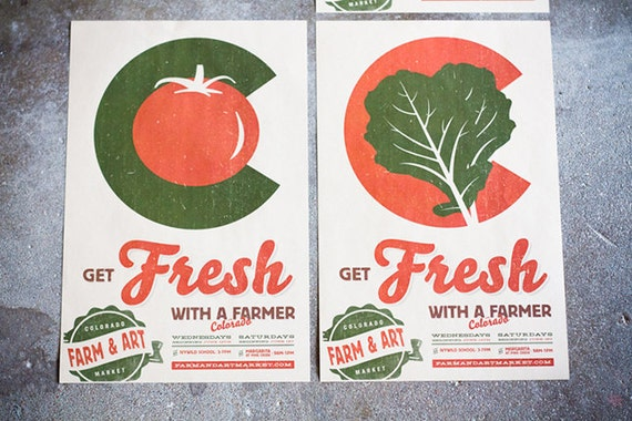 Colorado Farmers Market Poster - Get Fresh With A Farmer