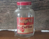 ON SALE vintage 1930's Butter-Nut Coffee Jar/Roasted coffee Jar/coffee collectiable