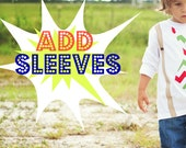 Swanky Shank Add Sleeves Upgrade  (to any of our white baby one pieces or white tees)