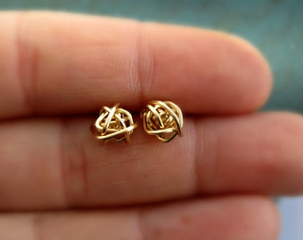 Gold Stud Earring Bridesmaid Gifts Love Knot Earrings Tiny Stud Earrings Tie the Knot gift Gift for her