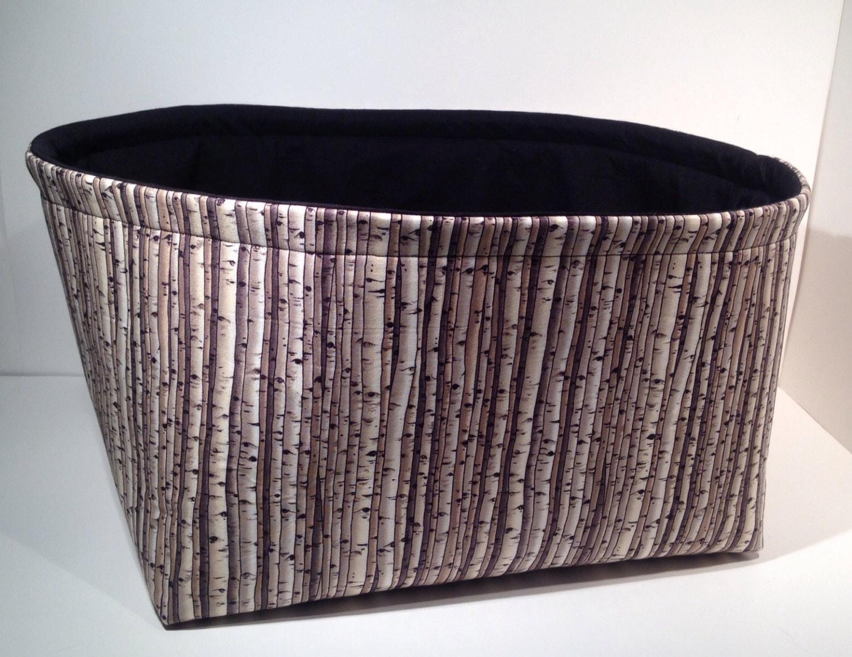extra large fabric storage basket organizer bin by thebasketgarden. Black Bedroom Furniture Sets. Home Design Ideas