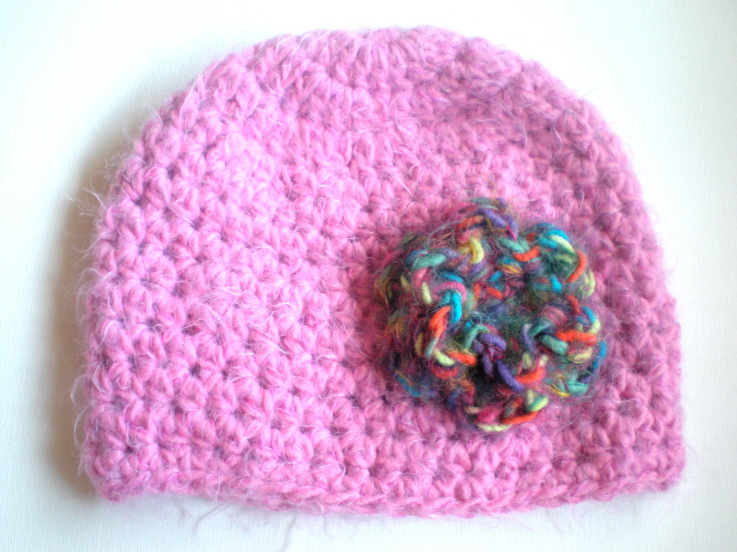Bulky Yarn Child Hat Pattern Crochet : PATTERN: Softee Beanie, chunky hat, flower hat, bulky yarn ...