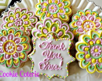 Thank You Cookies Decorated Sugar Cookies One Dozen