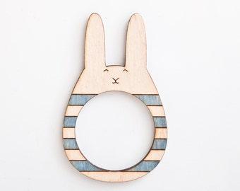 Bunny picture frame, Wooden photo frame, Magnets, fridge magnets, Many color variations