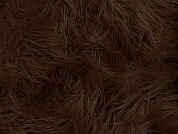 Half Yard Brown Mongolian Shag