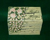 Personalized Wooden Wedding Recipe Card Box Decorative Hand Painted Custom Recipe Box Crackle Bridal Shower Gift