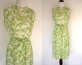 1940s Floral Summer Dress