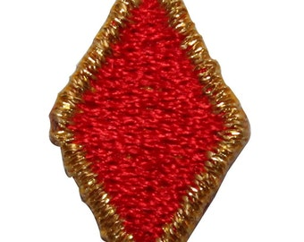 ID #8584 Lot of 3 Red Gold Poker Card Diamond Embroidered Iron On Applique Patch