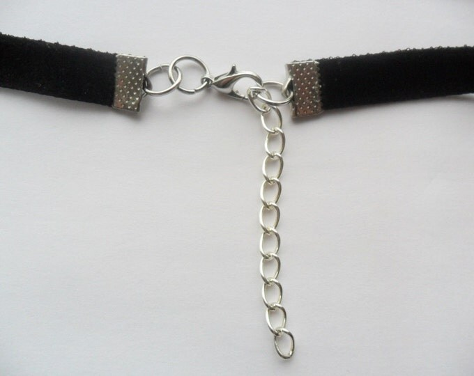 "Black velvet choker necklace with a width of 3/8"" inch (pick your neck size) black ribbon choker necklace"