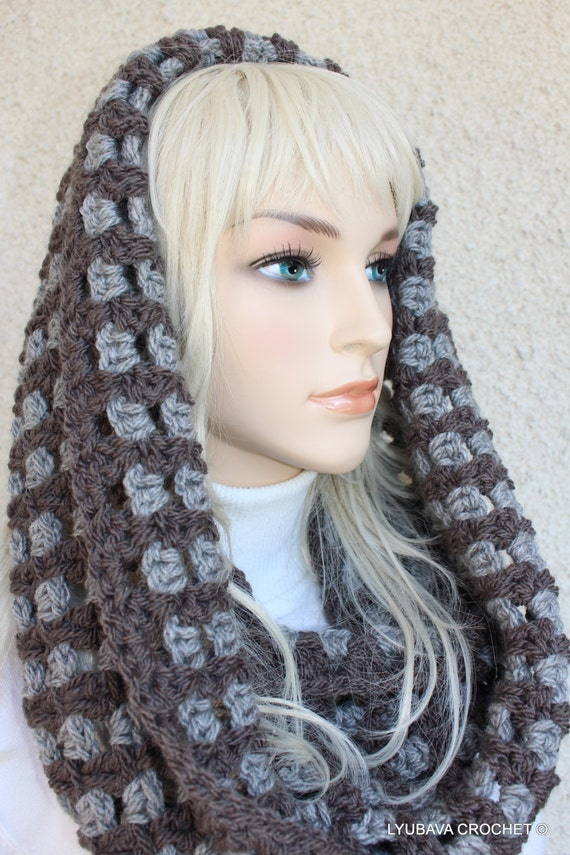 CROCHET PATTERN Two Colors Scarf Chunky Infinity by ...