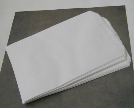 BAGS / White Paper Flat / 6 1⁄4 x 9 1⁄4 inches - 25 pack