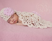 Crochet Baby Hat and Coverlet