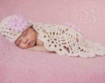 Crochet Baby Hat, Crochet Baby Cocoon, Baby Accessories, Newborn Photo Prop