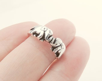 Sterling Silver Elephant Ring, Jewelry, Silver, Rings, Elephant Jewelry, Animal Jewelry, Animal Ring, Trending Ring, Elephant Ring, Trending
