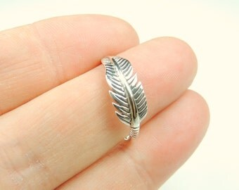 Feather Ring in Sterling Silver, Feather Ring, Feather Jewelry, Silver Feather, Silver Jewelry, Summer Fashions,Feathers, Rings,