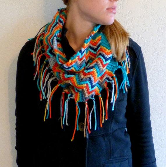 Apache Tears Pattterned Crochet Cowl Scarf