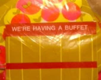 Vintage Buffet Invitations (Apple Basket)