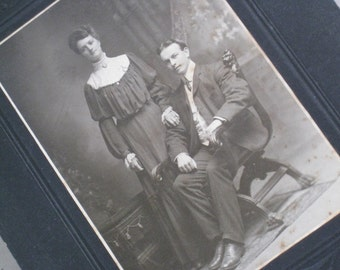 Large Edwardian Cabinet Card Photo of Canadian Couple - Turn of the Century Paper Ephemera