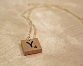 Custom Scrabble Pendant Necklace - Any Letter You Choose