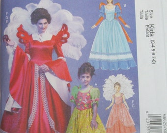 McCalls Pattern Costumes  Size 3,4,5,6,7,8