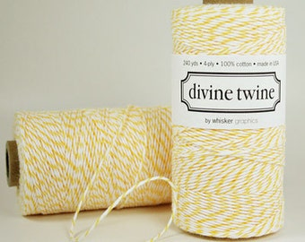 Lemon Divine Twine Baker's Twine 240 Yards, Full Spool
