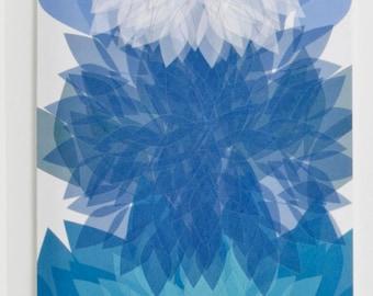 Blue Dahlia Greeting Card, Design #2