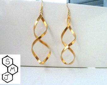 Gold 24k dna earrings